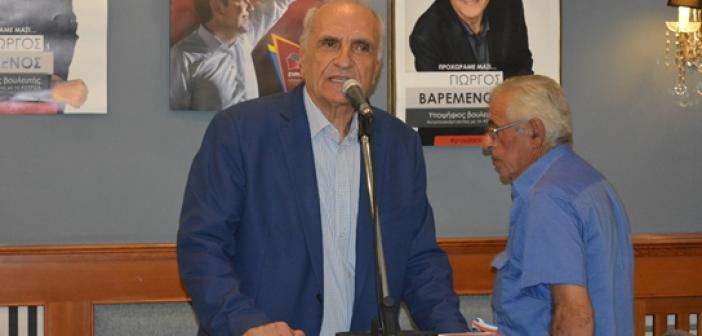 """Γ. Βαρεμένος: """"Tο προσφυγικό δεν είναι θέμα ελληνοτουρκικών σχέσεων αλλά της Τουρκίας με την Ευρώπη"""""""