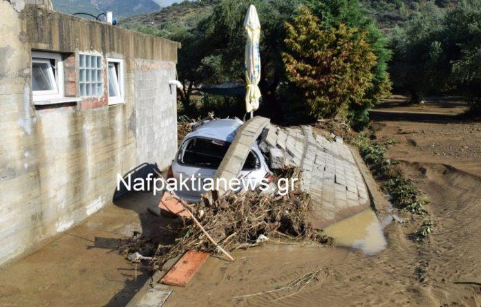 Στις πληγείσες περιοχές της Ναυπακτίας κλιμάκιο του ΚΚΕ