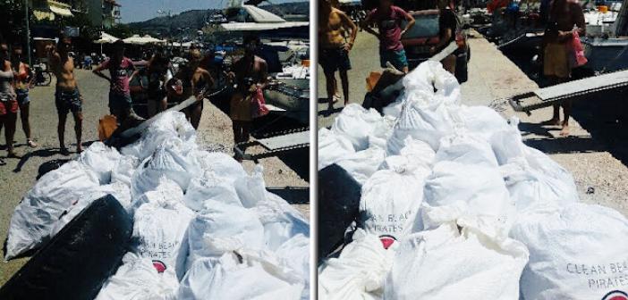 Καθαρίστηκαν οι παραλίες του Αγίου Γεωργίου και του Αγίου Νικολάου στον Αστακό από ξένους εθελοντές φοιτητές (ΔΕΙΤΕ ΦΩΤΟ)