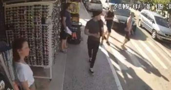 Βίντεο – σοκ: Η στιγμή που τουρίστας παρασύρεται από ΙΧ στη Ζάκυνθο