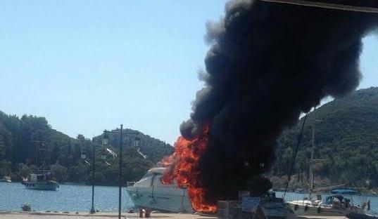 Λευκάδα: Φωτιά σε σκάφος στο Νυδρί