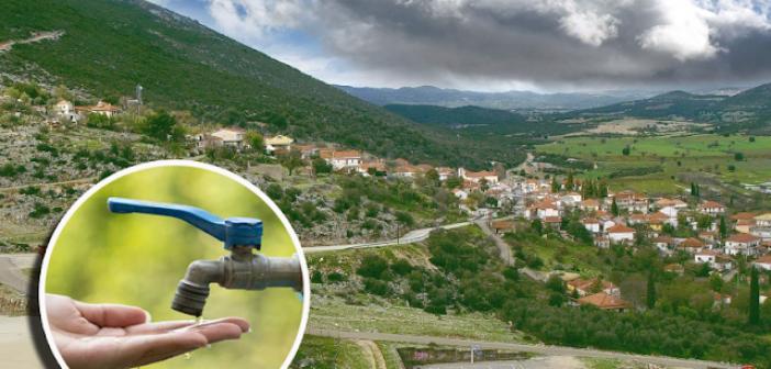 Έσπασε ο αγωγός και είναι χωρίς νερό το μισό χωριό Αετός Ξηρομέρου