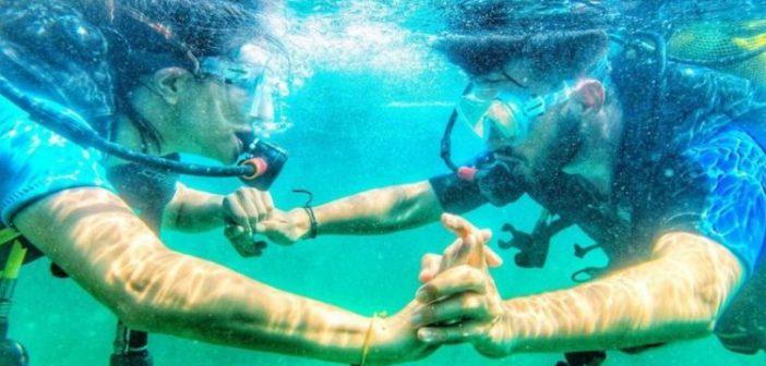 Κατερίνα Γερονικολού – Γιάννης Τσιμιτσέλης: Κάνουν κατάδυση και βγάζουν τις πιο τρυφερές φωτογραφίες τους!