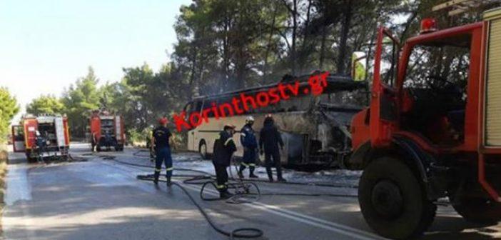 Λεωφορείο έπιασε φωτιά εν κινήσει στην Εθνική Πρέβεζας – Ηγουμενίτσας (ΔΕΙΤΕ ΦΩΤΟ)