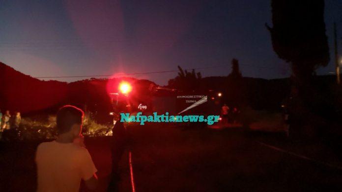 Ακόμη μια πυρκαγιά στο Τρίκορφο Ναυπακτίας