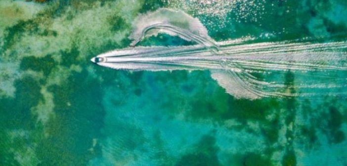 H εγκατάσταση για το θαλάσσιο σκι στη Λίμνη Στράτος