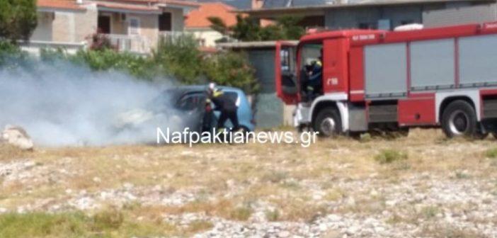 Φωτιά πήρε Ι.Χ. στο Αντίρριο (ΔΕΙΤΕ VIDEO)