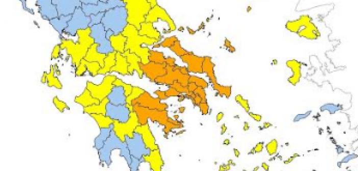 Yψηλός ο κίνδυνος πυρκαγιάς και την Τρίτη σε όλη τη Δυτική Ελλάδα
