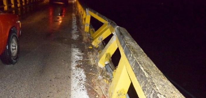 Οδηγοί προσοχή στη γέφυρα της Αβόρανης! Υποχώρησε στηθαίο (ΔΕΙΤΕ ΦΩΤΟ)
