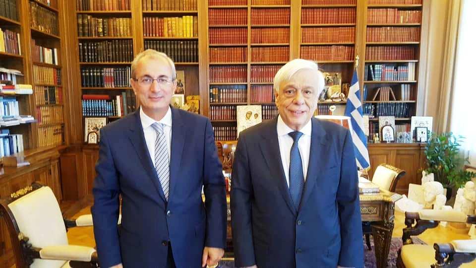 Συνάντηση του Δημάρχου Θέρμου με τον Πρόεδρο της Δημοκρατίας