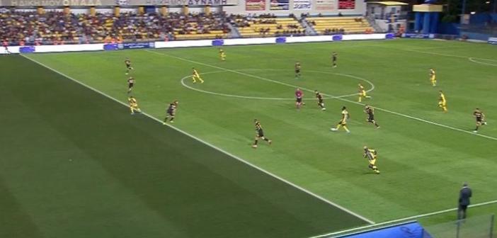 Παναιτωλικός – ΑΕΚ: Το σπουδαίο γκολ του Μοράρ που ακυρώθηκε ως οφσάιντ (VIDEO)