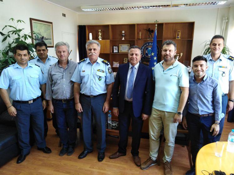 Εθιμοτυπική επίσκεψη του Δημάρχου Πηνειού Ανδρέα Μαρίνου στη Γενική Περιφερειακή Αστυνομική Διεύθυνση Δυτικής Ελλάδας