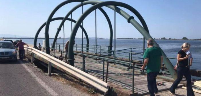 Αυτοψία Θ. Μαυρομάτη στην άκρως επικίνδυνη γέφυρα της Τουρλίδας (ΔΕΙΤΕ ΦΩΤΟ)
