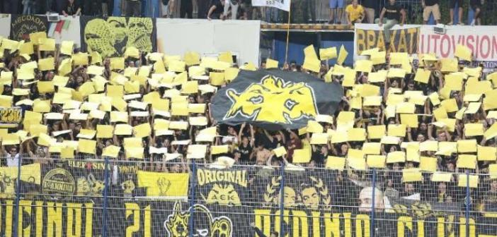 Παναιτωλικός – ΑΕΚ: Το «μωσαϊκό» των οπαδών της Ένωσης στο Αγρίνιο (ΦΩΤΟ)