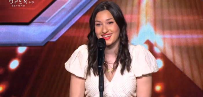 Η Βαλεντίνα Παλαιοδήμου με καταγωγή από το Παναιτώλιο στις auditions του X factor (VIDEO)
