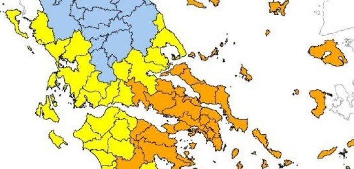 Υψηλός κίνδυνος πυρκαγιάς αύριο στην Αιτωλοακαρνανία (ΔΕΙΤΕ ΧΑΡΤΗ)