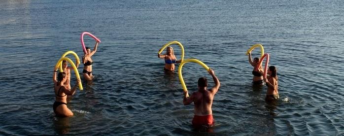 Αντίρριο: Aqua Αερόμπικ μέχρι να χειμωνιάσει (VIDEO + ΦΩΤΟ)