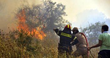 Φωτιά κοντά στο γήπεδο Αιτωλικού (ΔΕΙΤΕ ΦΩΤΟ)