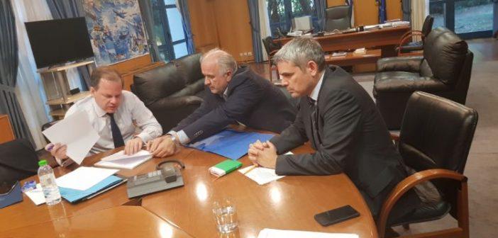 Συνάντηση Λύρου – Καραμανλή για τα έργα υψηλής προτεραιότητας που αφορούν το Δήμο Μεσολογγίου (ΦΩΤΟ)