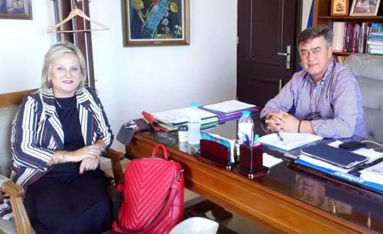 Βόνιτσα: Συνάντηση της Χρυσάνθης Νούλα με τον Δήμαρχο Γιώργο Αποστολάκη