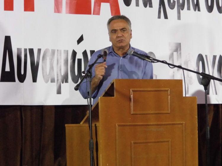 Αγρίνιο: Σφοδρή επίθεση στην κυβέρνηση από τον Π. Σκουρλέτη (ΦΩΤΟ + VIDEO)