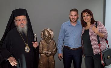 Εγκαίνια της έκθεσης γλυπτικής του Ευάγγελου Τύμπα στο Αγρίνιο (ΦΩΤΟ)