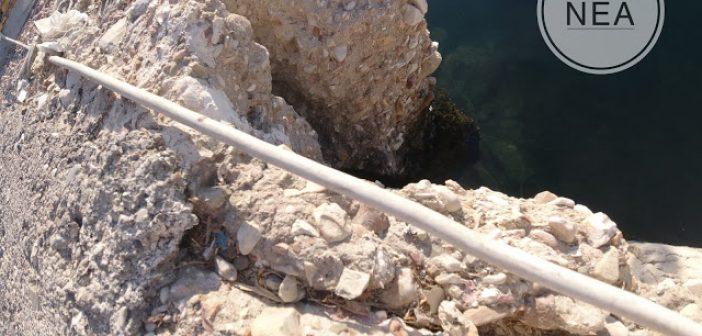 Αστακός: Έντονη καθίζηση στην προβλήτα του Αστακού (ΦΩΤΟ)