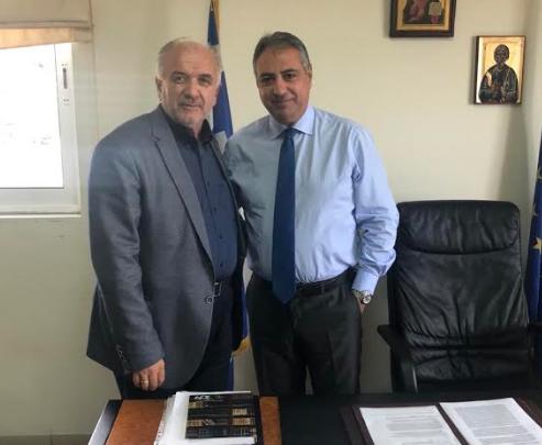 Συνάντηση του Δημάρχου Μεσολογγίου Κώστα Λύρου με τον Διοικητή της 6ης ΥΠΕ Γιάννη Καρβέλη