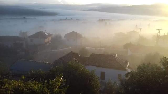"""""""Πνιγμένη"""" στην ομίχλη ξύπνησε η Μπαμπίνη (ΔΕΙΤΕ ΦΩΤΟ)"""