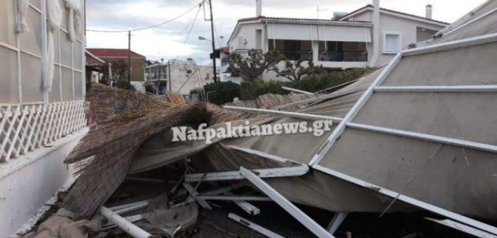 Αντίρριο: Ανεμοστρόβιλος κατέστρεψε κατάστημα στη παραλία (ΔΕΙΤΕ VIDEO)