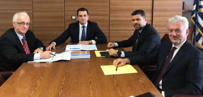 Συνάντηση του Κώστα Σκρέκα με τον Πρόεδρο και Διευθύνοντα Σύμβουλο της ΔΕΗ για το Φράγμα Μεσοχώρας