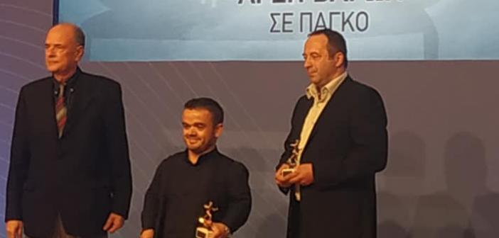 Βραβεύτηκε ο Ξηρομερίτης Δημήτρης Μπακοχρήστος μεταξύ των κορυφαίων αθλητών με αναπηρία για το 2019 (ΦΩΤΟ)