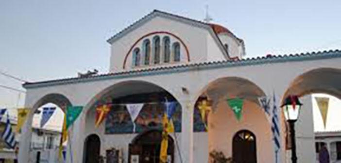 Αγρυπνία ενώπιον του Ιερού Ναού Αγίας Άννης στο Αντίρριο