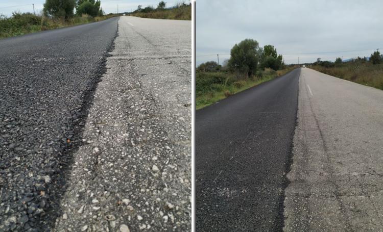 Δρόμος Άκτιο – Άγιος Νικόλαος Βόνιτσας: Έστρωσαν με άσφαλτο τον… μισό δρόμο! – Κίνδυνος για μοτοσικλετιστές! (ΔΕΙΤΕ ΦΩΤΟ)