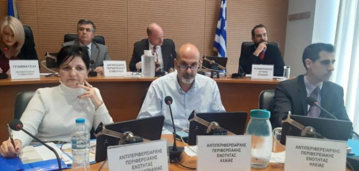 Δυτική Ελλάδα: Συζήτηση για τον οδικό άξονα Πατρών – Πύργου – Τσακώνα στο Περιφερειακό Συμβούλιο της Δευτέρας