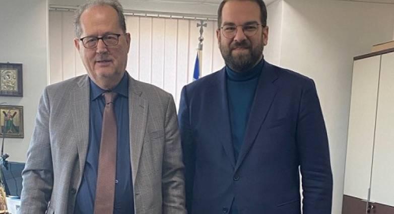 Συνάντηση του Ν. Φαρμάκη με τον Περιφερειάρχη Πελοποννήσου Π. Νίκα