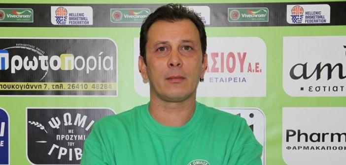 Α.Ο. Αγρινίου: Οι δηλώσεις του Γ. Διαμαντάκου για τον εκτός έδρας αγώνα με το Παγκράτι
