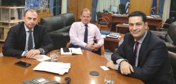 Συνάντηση Παπαναστασίου με τον Υπουργό Υποδομών Κώστα Καραμανλή