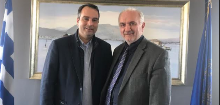 Μεσολόγγι: Συνάντηση εργασίας μεταξύ Θανάση Παπαθανάση και Κώστα Λύρου