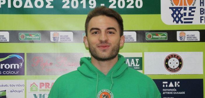 ΑΟ Αγρινίου – Ανδρέας Χατζηνικόλας: Ο κόσμος της ομάδας σε κάθε εντός έδρας αγώνα είναι ο 6ος παίκτης μας