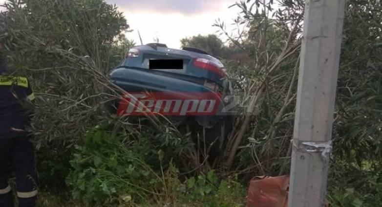 """Δυτική Ελλάδα: Αυτοκίνητο """"απογειώθηκε"""" στην Πατρών – Πύργου – Επέβαινε οικογένεια"""