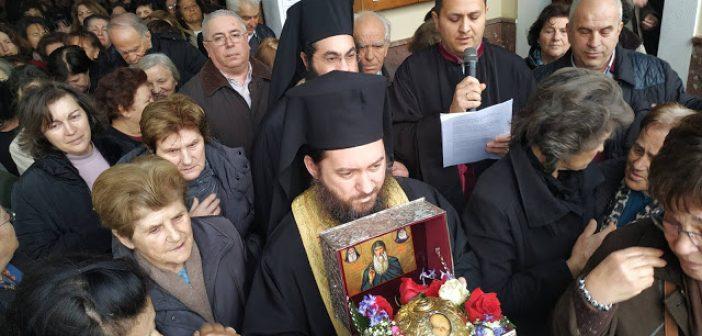 Αναχώρηση της Τιμίας Κάρας του Οσίου Δαυίδ από τον Ιερό Ναό Αγίας Τριάδος Αγρινίου (ΦΩΤΟ)