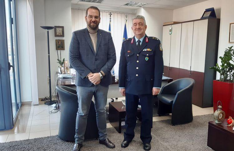 Στον Περιφερειάρχη Δυτικής Ελλάδας ο νέος Γενικός Περιφερειακός Αστυνομικός Διευθυντής