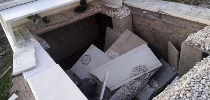 Στόχος βανδάλων το κοιμητήριο της Καμαρούλας! (ΔΕΙΤΕ ΦΩΤΟ)