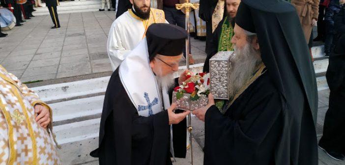 Υποδοχή της Τιμίας Κάρας του Οσίου Δαυίδ του Γέροντος στο Αγρίνιο (ΔΕΙΤΕ ΦΩΤΟ)