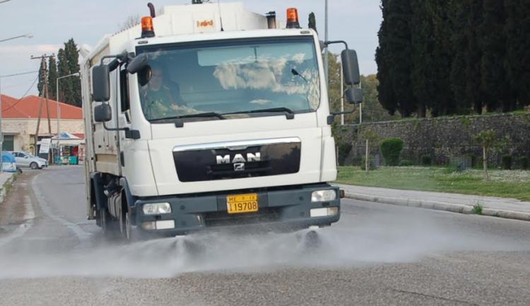 Συνεχίζεται η γενική απολύμανση στο Δήμο Μεσολογγίου (ΔΕΙΤΕ ΦΩΤΟ)