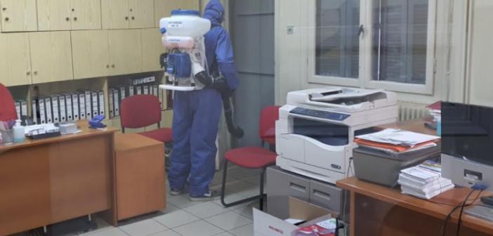 ΔΕΥΑ Αγρινίου: Απολύμανση διοικητικών και τεχνικών υπηρεσιών και των εγκαταστάσεων επέκτασης του Βιολογικού καθαρισμού (ΦΩΤΟ)
