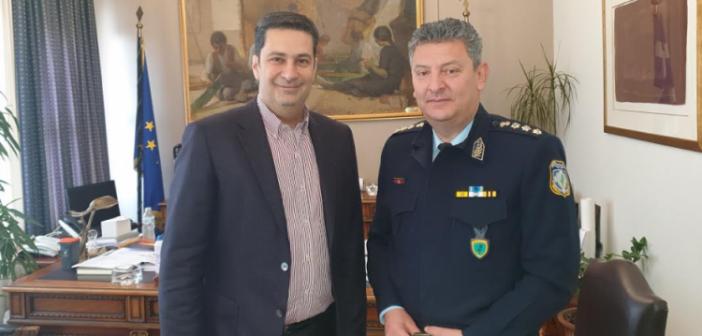 Συνάντηση δημάρχου Αγρινίου με το νέο Αστυνομικό Διευθυντή Ακαρνανίας