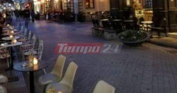 """Πάτρα: """"Επιχείρηση"""" μάζεμα τραπεζοκαθισμάτων από καταστηματάρχες – Αυταπάγγελτη δίωξη στους παραβάτες (VIDEO + ΦΩΤΟ)"""