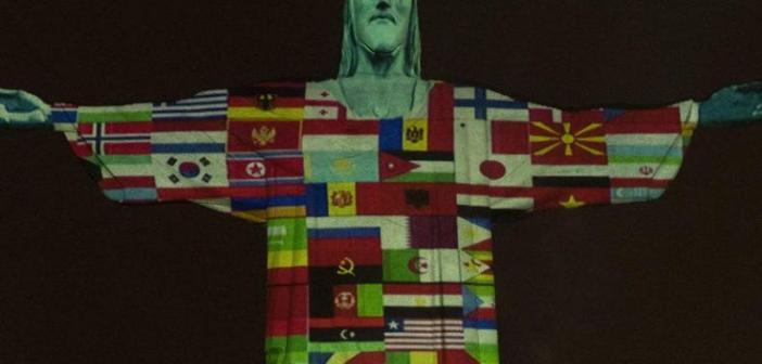 Το άγαλμα του Χριστού του Σωτήρος στο Ρίο ντε Τζανέιρο, απέναντι στον κορωνοϊό